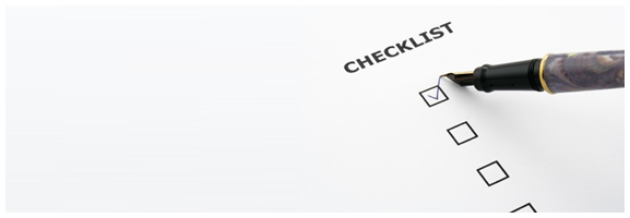 Picture of a check list