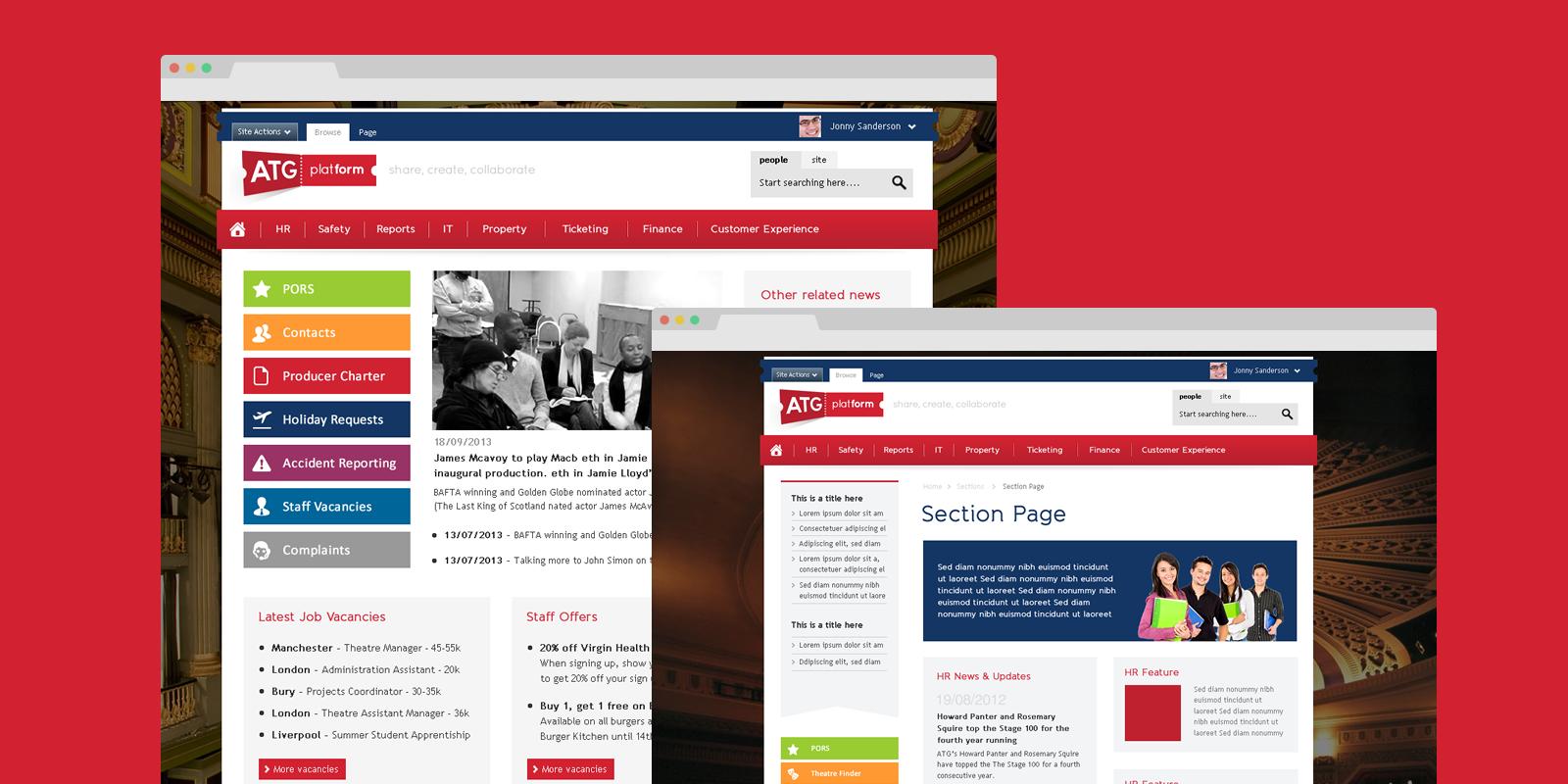 PinkPetrol SharePoint design branding - ATG