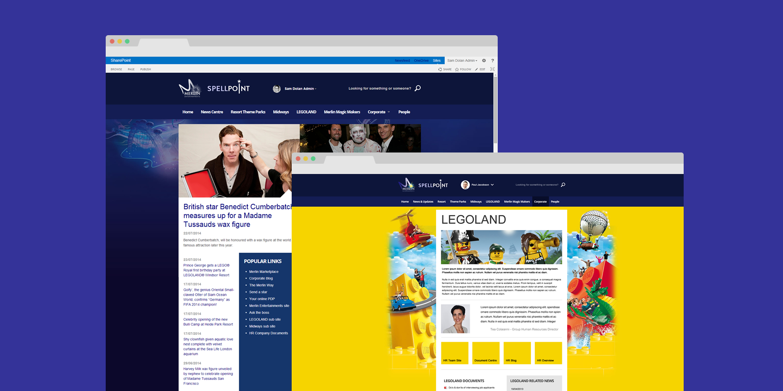PinkPetrol SharePoint Design Branding - Merlin Entertainments